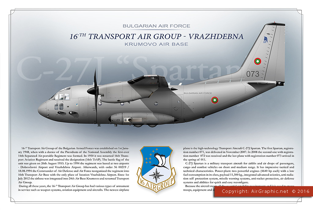 C-27J Spartan Bulgarian Air Force - EN Version (Poster 40x30 cm)
