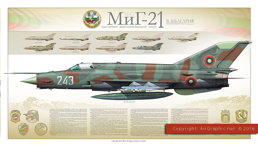 MiG-21 Bulgarian Air Force (Poster 100x60 cm)