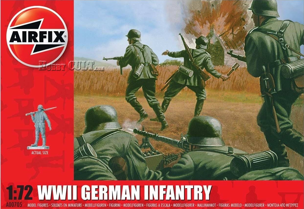 1:72 WWII German Infantry (48 Figures) (Pre-Order)