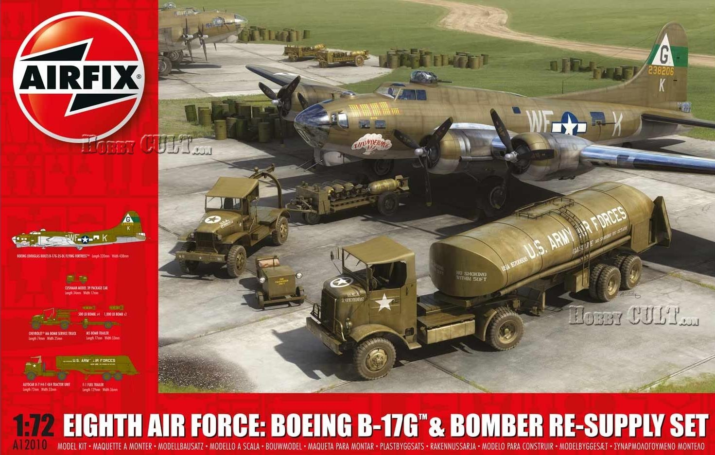 1:72 Eighth Air Force: B-17G & Bomber Re-supply Set (3 Vehicles)