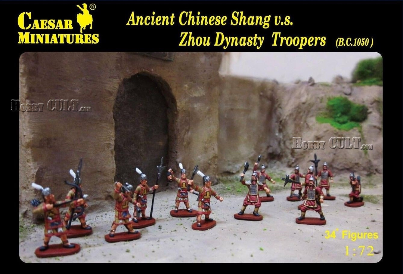 1:72 Ancient Chinese Shang vs. Zhou Dynasty Troopers (Pre-Order)