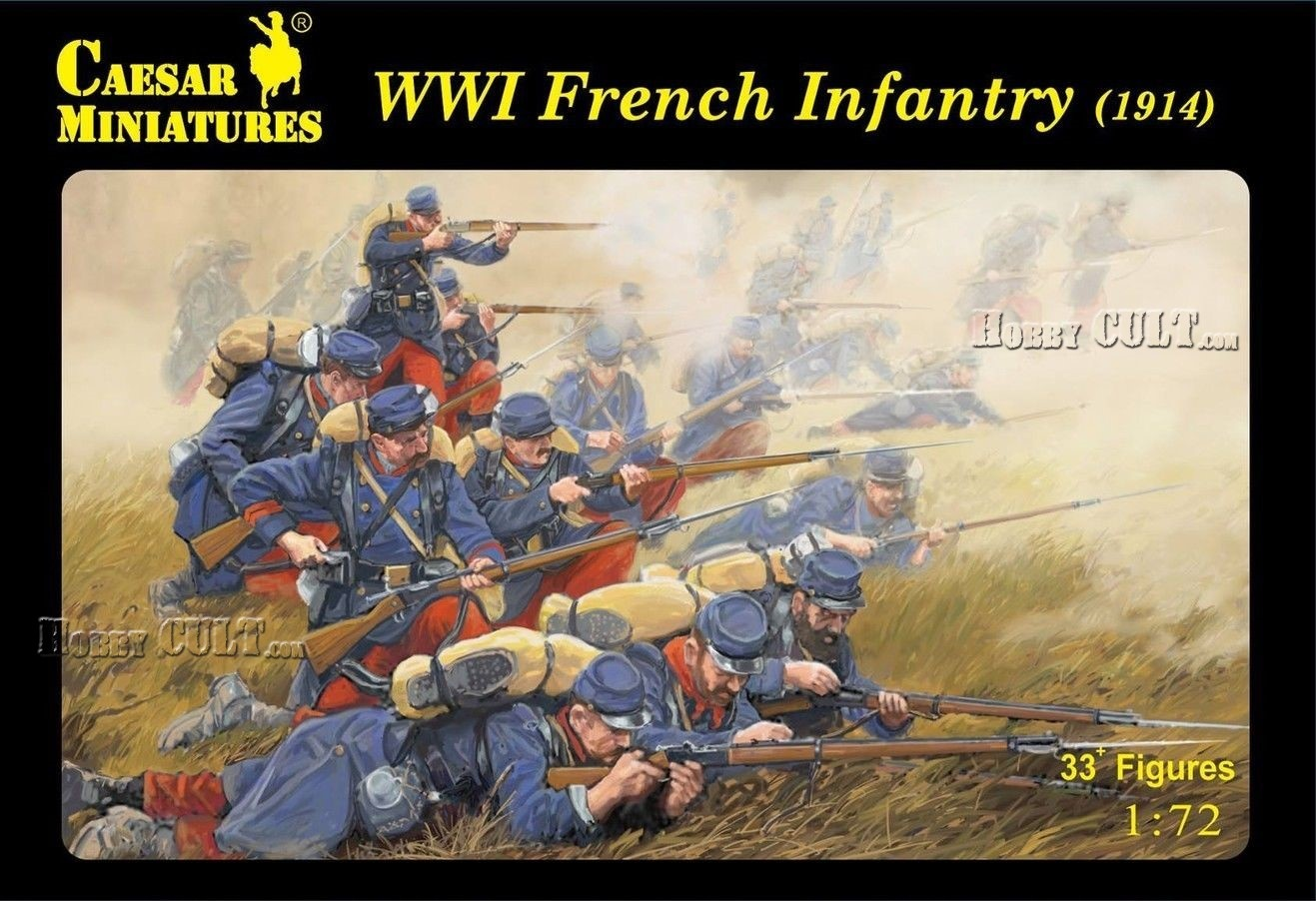 1:72 WWI French Infantry (1914) (Pre-Order)