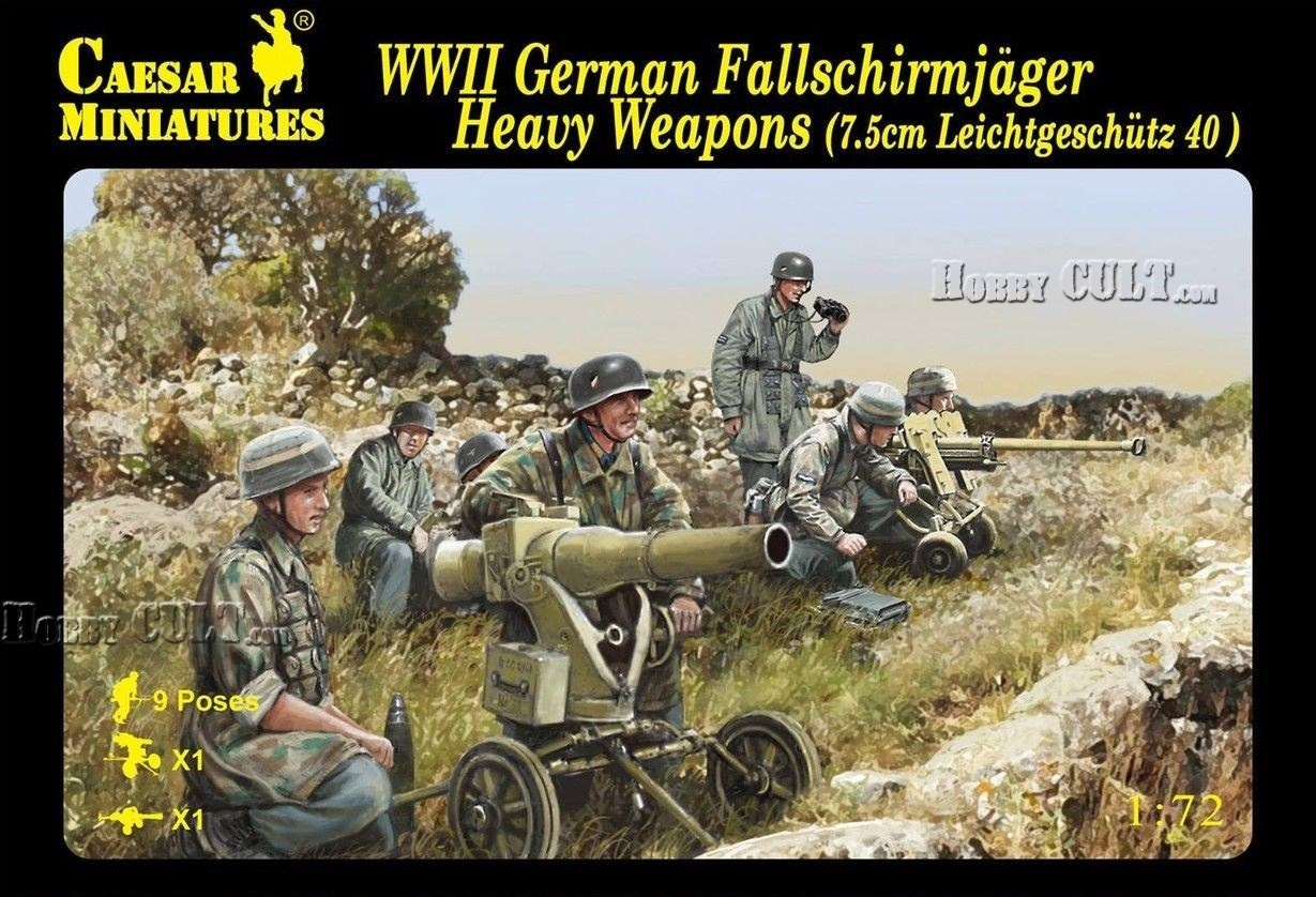 1:72 WWII German Fallschirmjäger Heavy Weapons (Pre-Order)