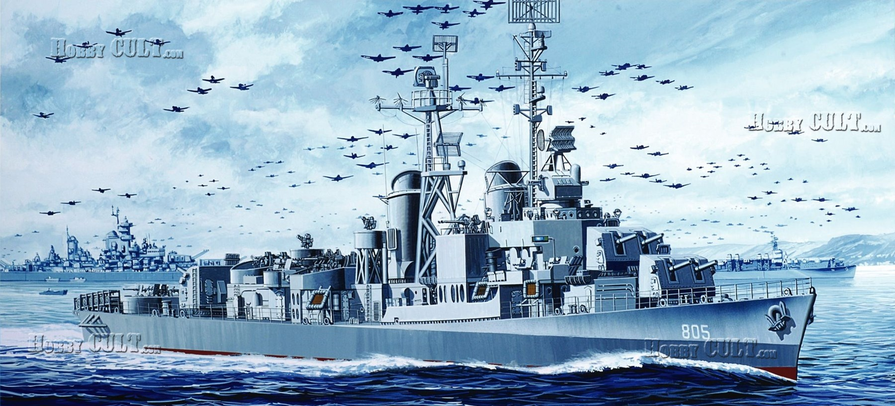 1:350 U.S.S. Chevalier DD-805 1945 (Smart Kit)