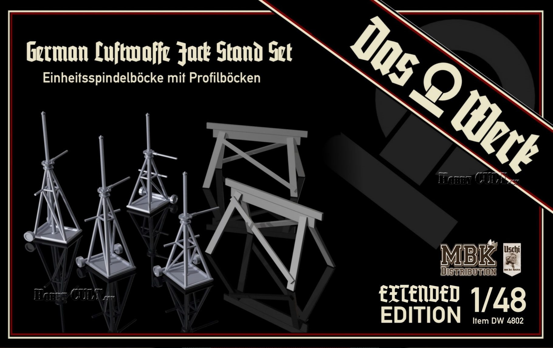 1:48 German Luftwaffe Jack Stand Set Extended Edition (PreOrder)