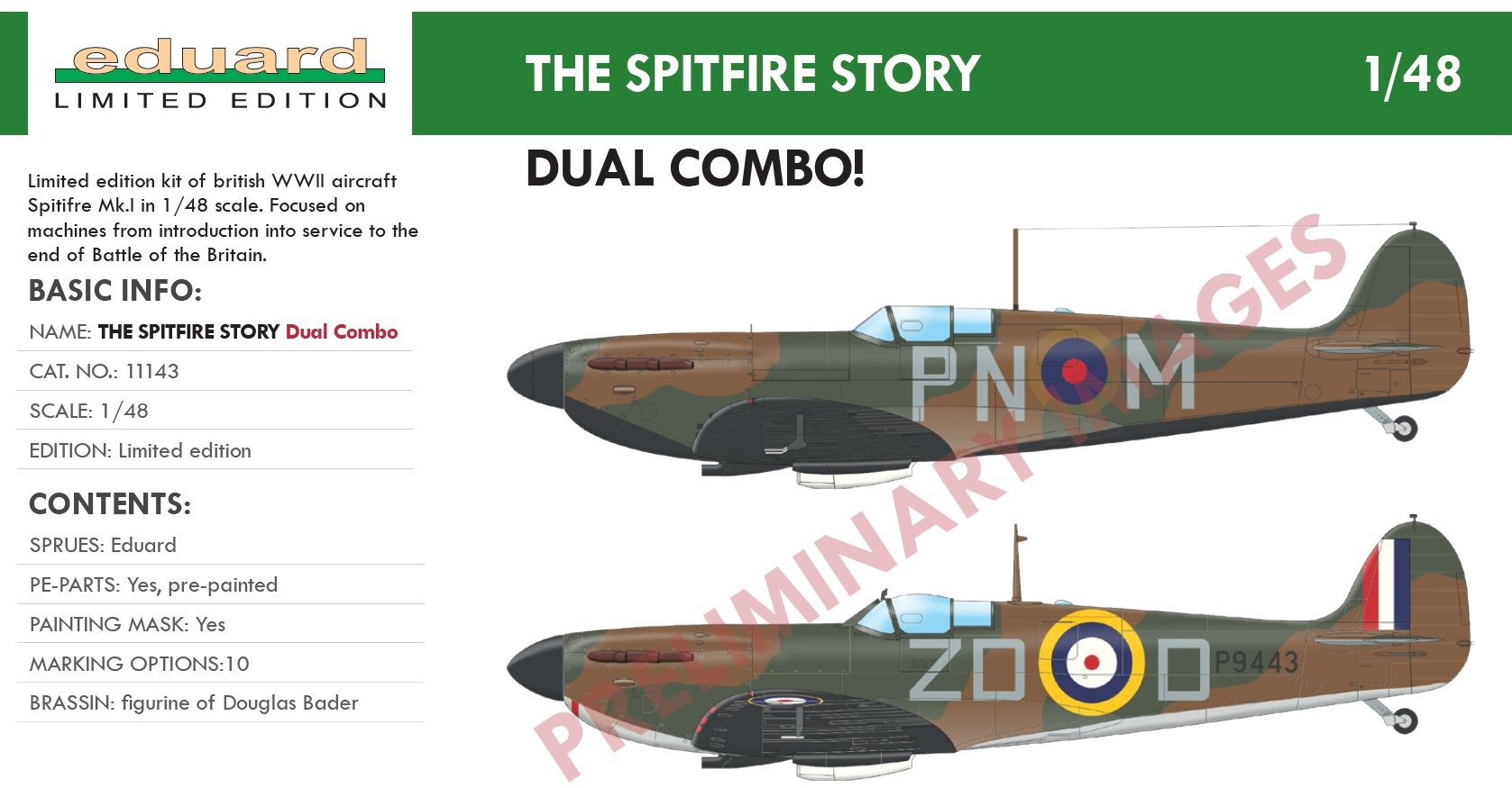 1:48 The Spitfire Story (Spitifre Mk.I) (for Limited edition kit