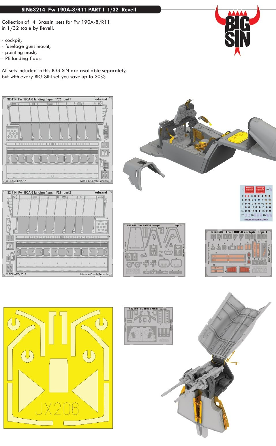 1:32 Fw 190A-8/R11 PART II (for REVELL kit)