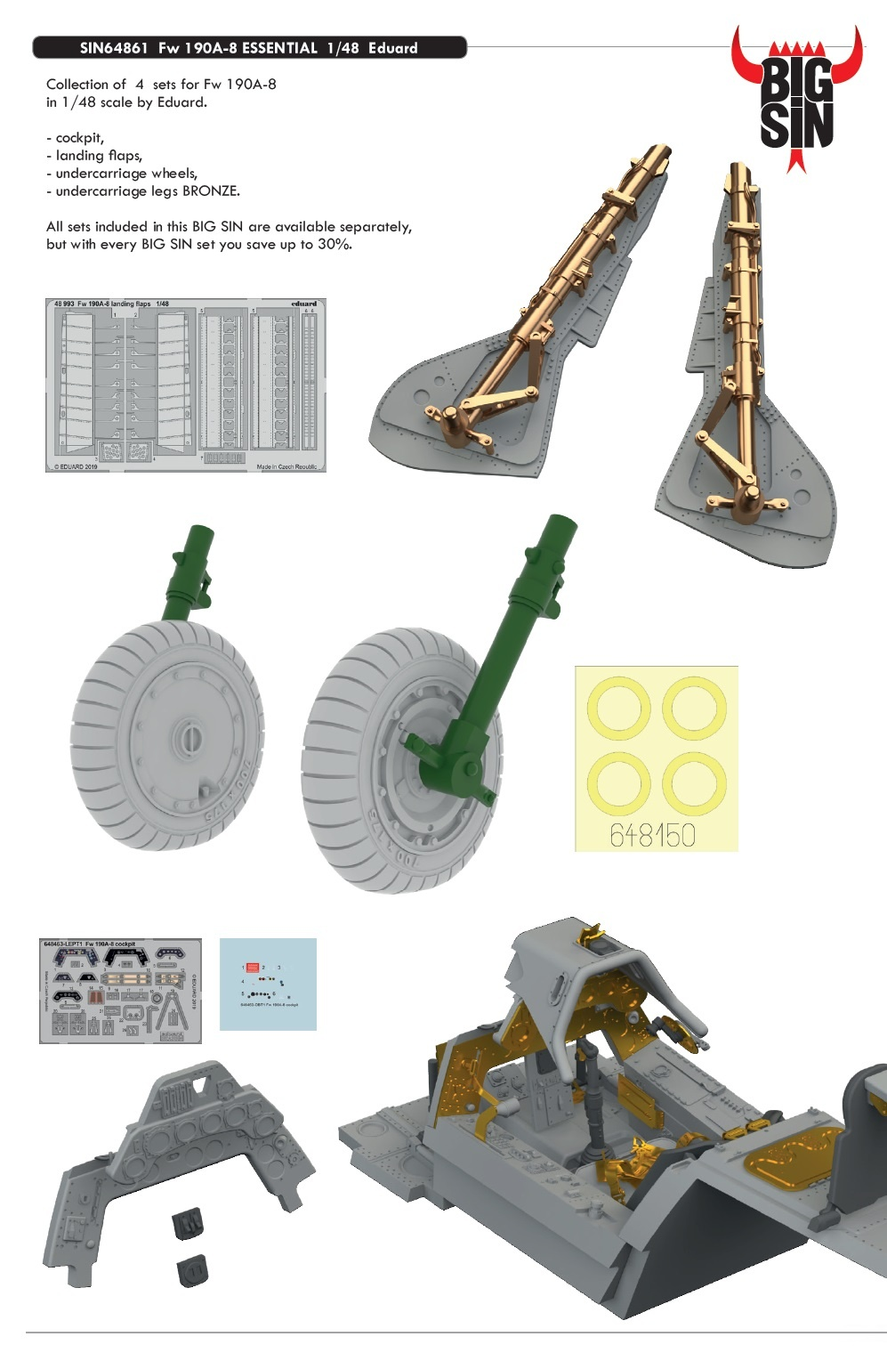 1:48 Fw 190A-8 ESSENTIAL  (for EDUARD kit)