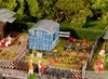 1:87 H0 Allotments w/Contractor's Trailer