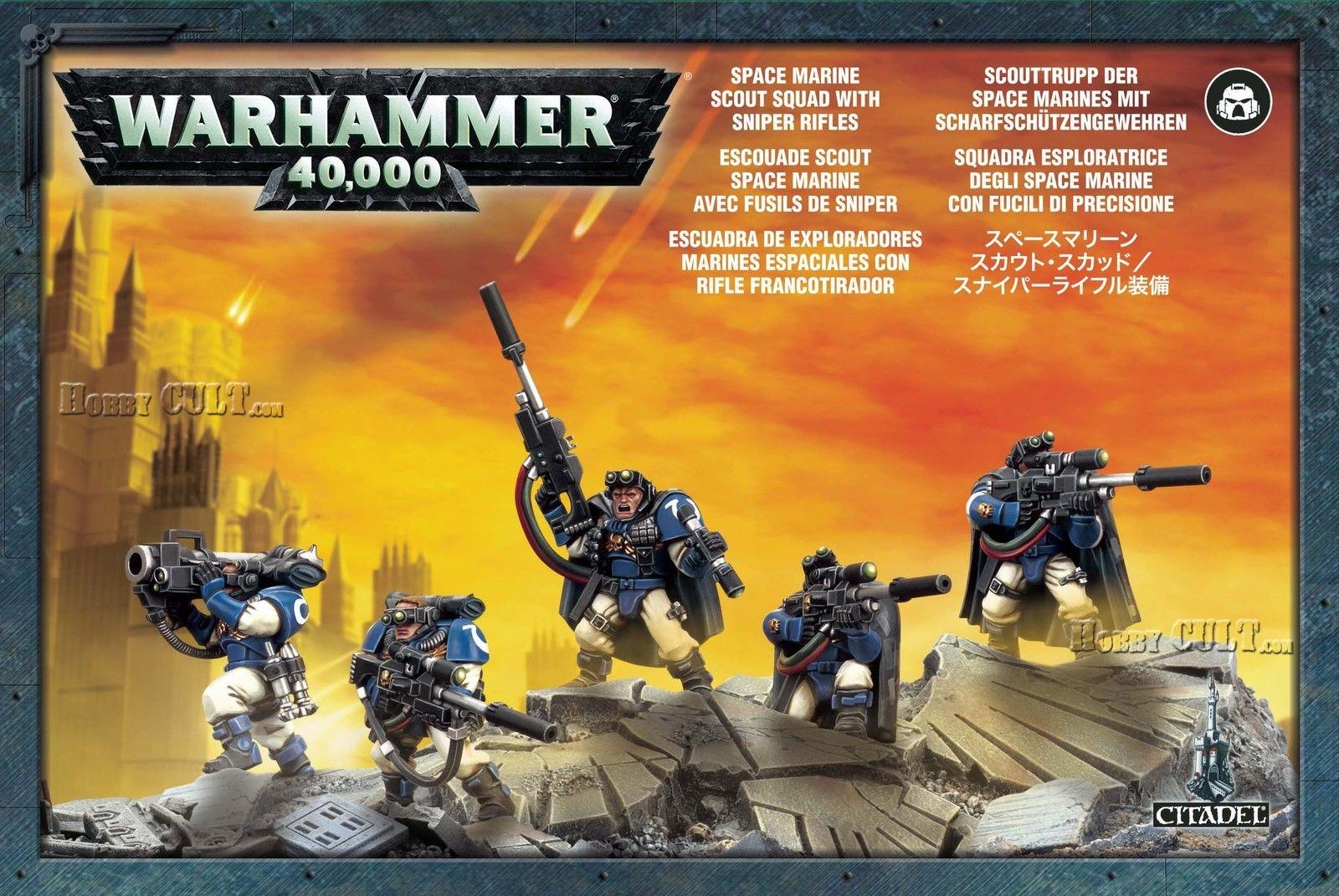 Space Marine Scouts with Sniper Rifles (99120101044)