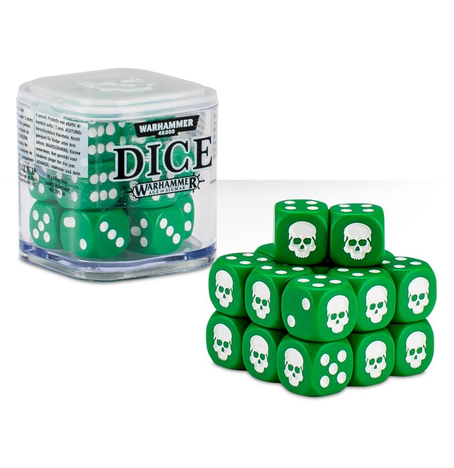 Citadel 12mm Dice Cube Set - Green (9922999914206)