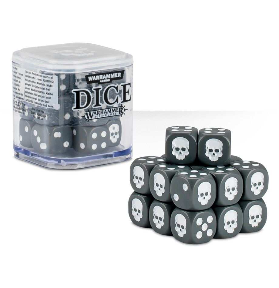 Citadel 12mm Dice Cube Set - Grey (9922999914206)