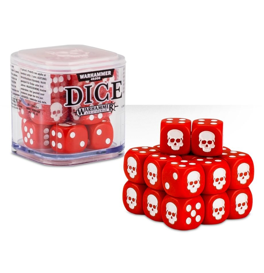 Citadel 12mm Dice Cube Set - Red (9922999914206)