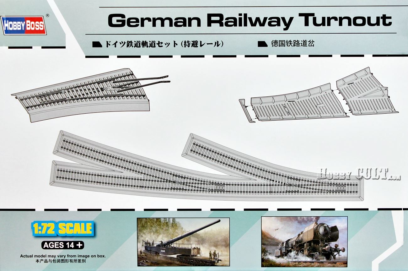 1:72 German Railway Turnout