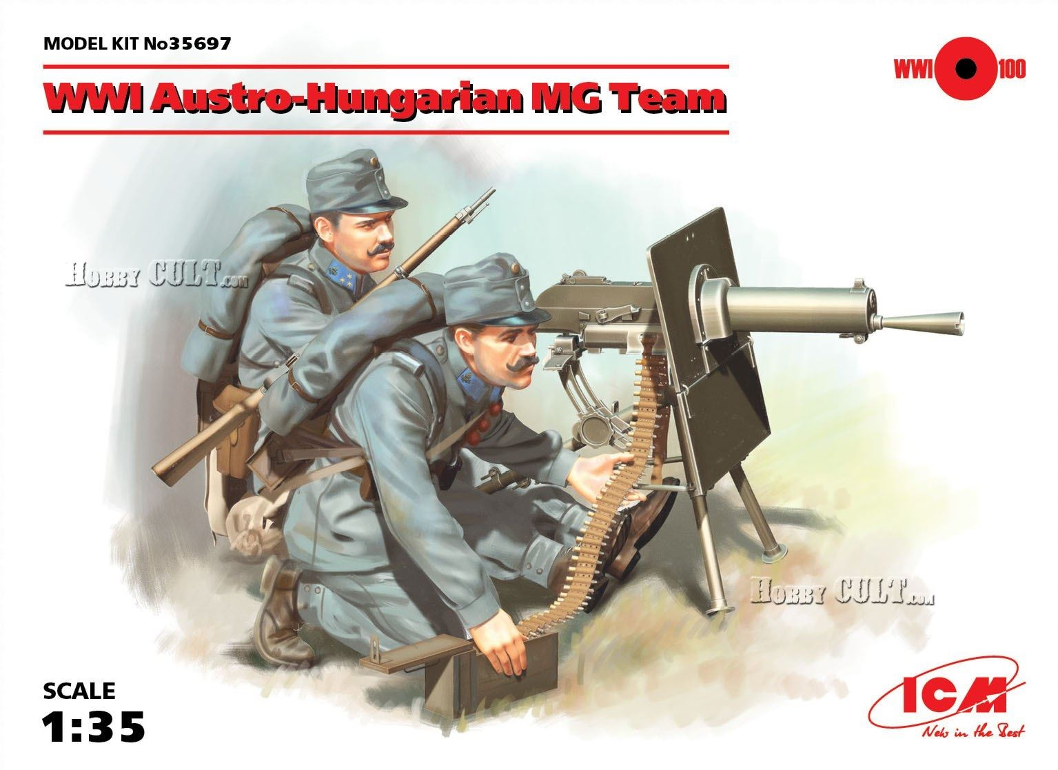 1:35 WWI Austro-Hungarian MG Team (Pre-Order)