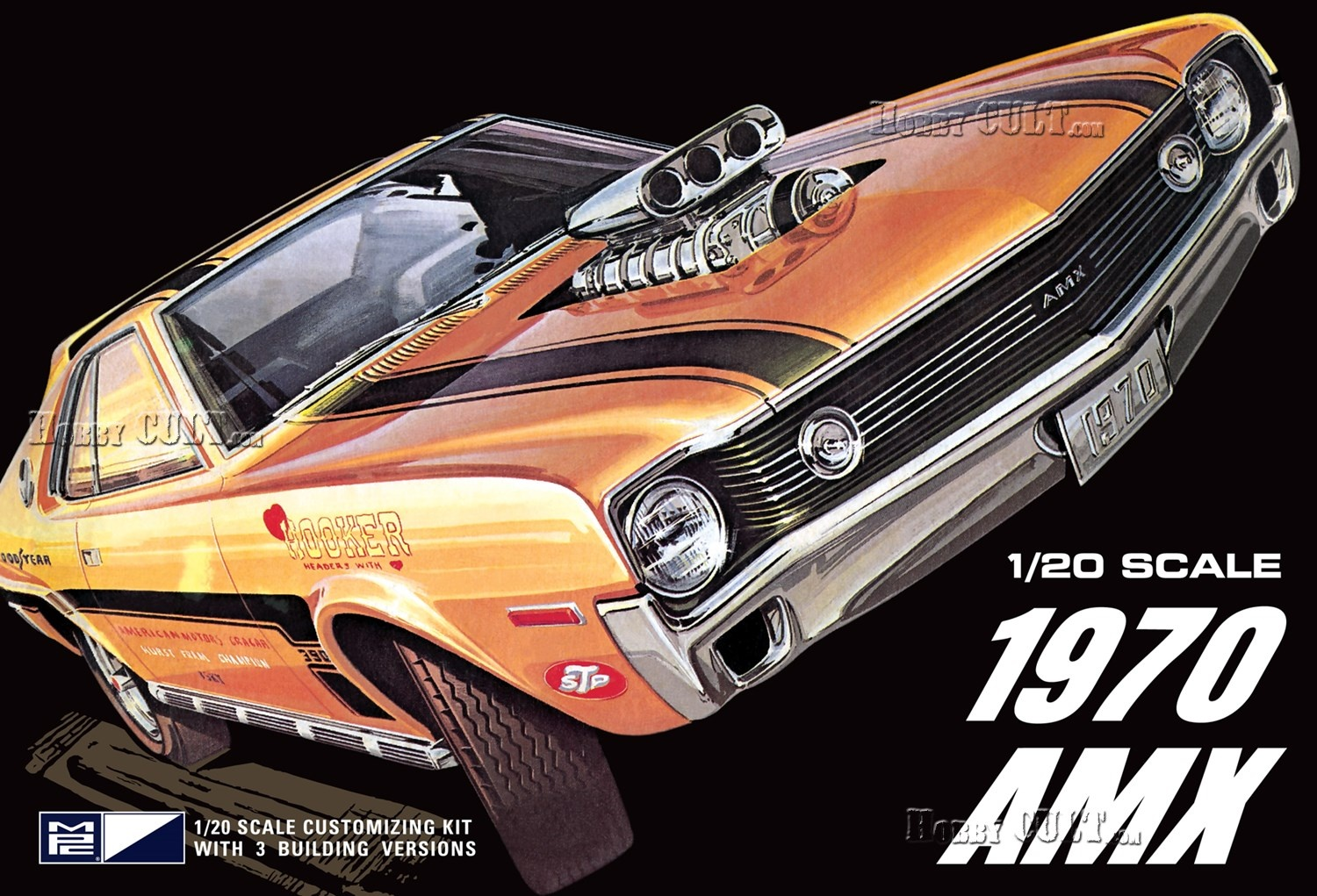1:20 AMC AMX 1970 - Stock, Custom, Drag Racing (3 in 1)