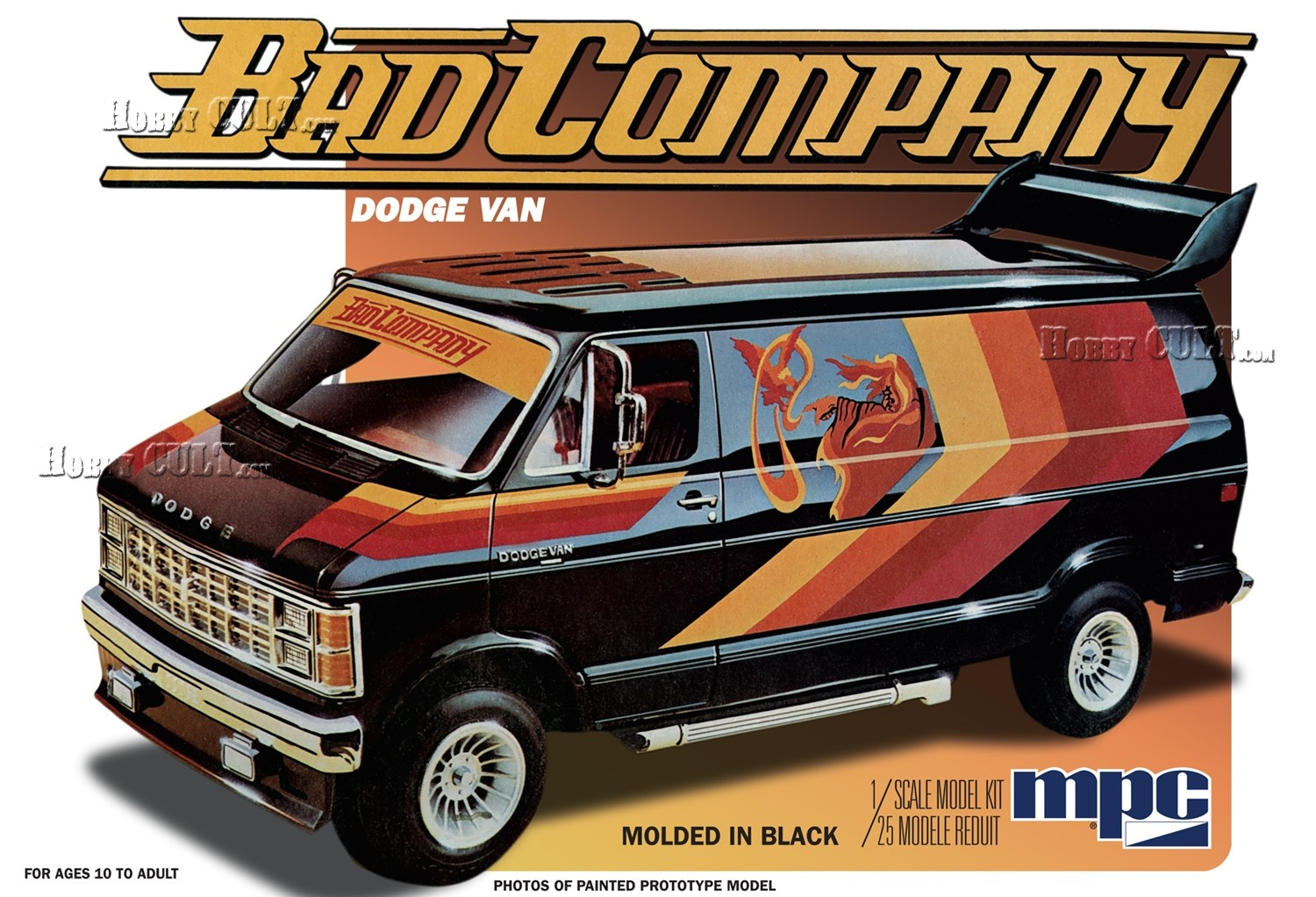1:25 Dodge Van 1982 - Stock, Custom (2 in 1)