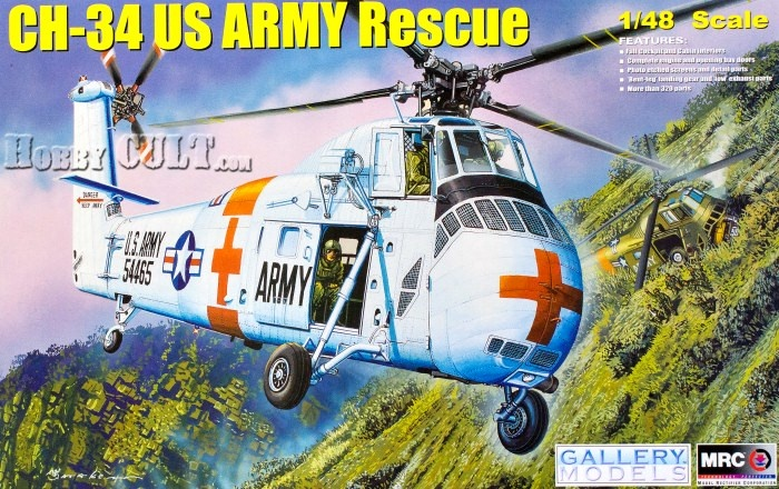 1:48 Sikorsky CH-34 Choctaw U.S. Army Rescue (Pre-Order)