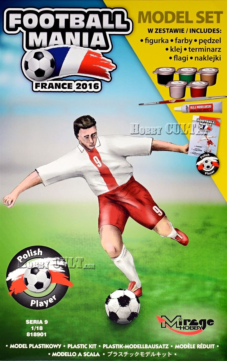 1:18 Football Player POLAND, Euro 2016 (Model Set)