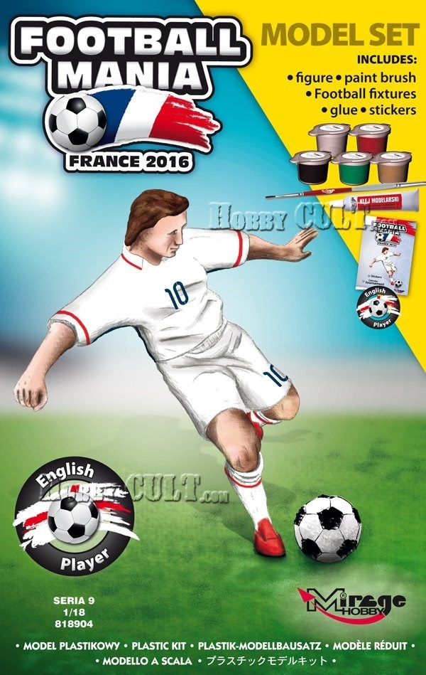 1:18 Football Player ENGLAND, Euro 2016 (Model Set)
