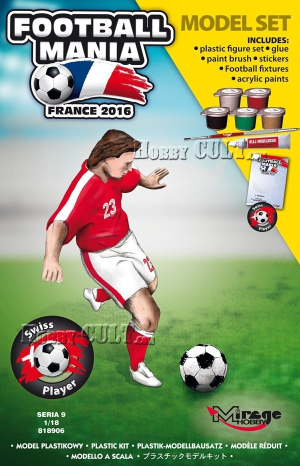 1:18 Football Player SWITZERLAND, Euro 2016 (Model Set)