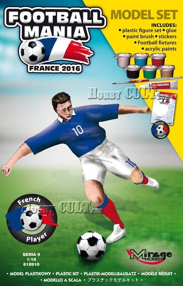 1:18 Football Player FRANCE, Euro 2016 (Model Set)