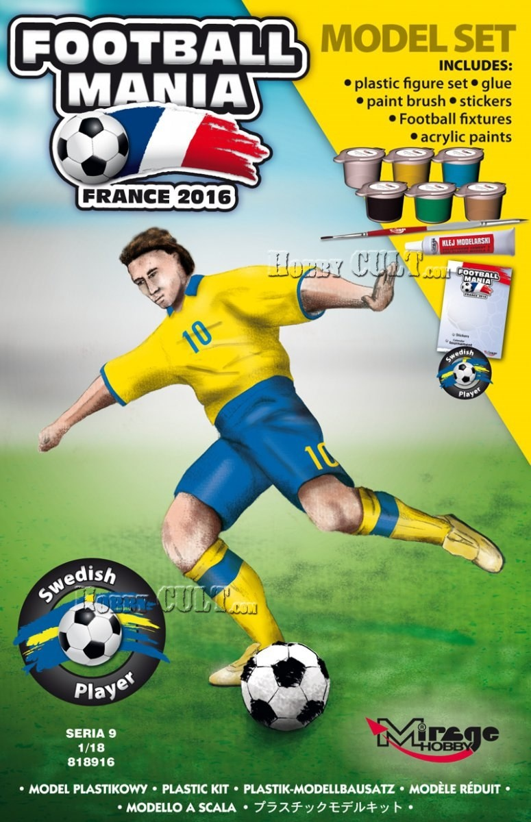 1:18 Football Player SWEDEN, Euro 2016 (Model Set)