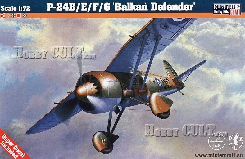 1:72 PZL P.24 B/E/F/G 'Balkan Defender' (Bulgarian Markings)