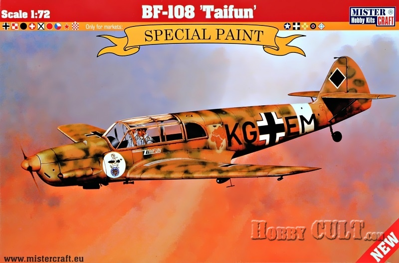 1:72 Messerschmitt Bf-108B Taifun (Bulgarian Markings)