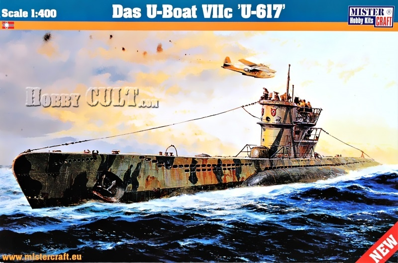 1:400 German Type VIIC Submarine U-Boat 'U-617'