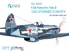 1:32 Yak-3 vacuformed clear canopy, open & close position (for S
