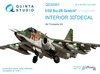 1:32 Su-25 3D-Printed & coloured Interior on decal paper (for Tr