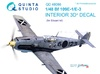 1:48  Bf 109E-1:E-3 3D-Printed & coloured Interior on decal pape