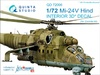 1:72 Mi-24V  3D-Printed & coloured Interior on decal paper  (for