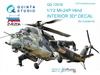 1:72 Mi-24P  3D-Printed & coloured Interior on decal paper  (for