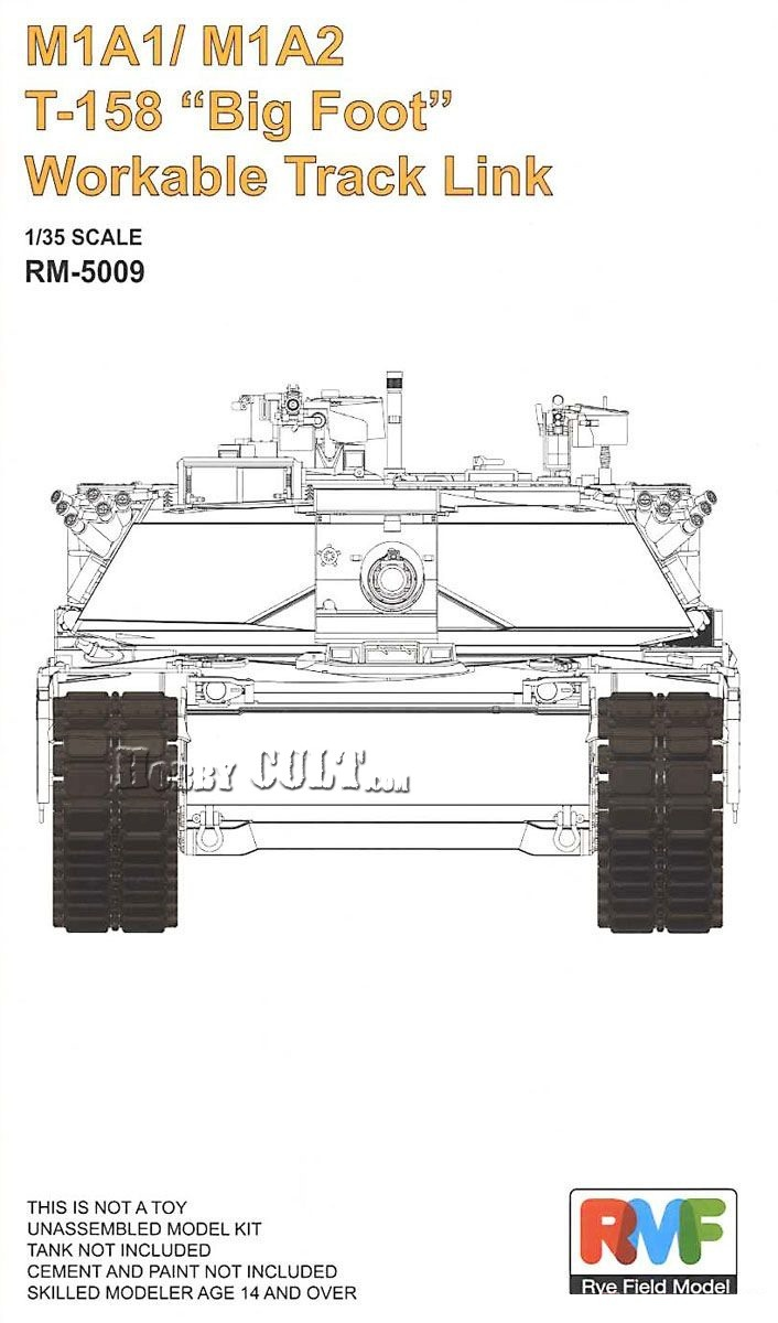 1:35 Workable Tracks T-158 'Big Foot' for M1A1/ M1A2 (Pre-Order)