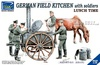 1:35 German Field Kitchen w/Soldiers - Lunch Time (Pre-Order)