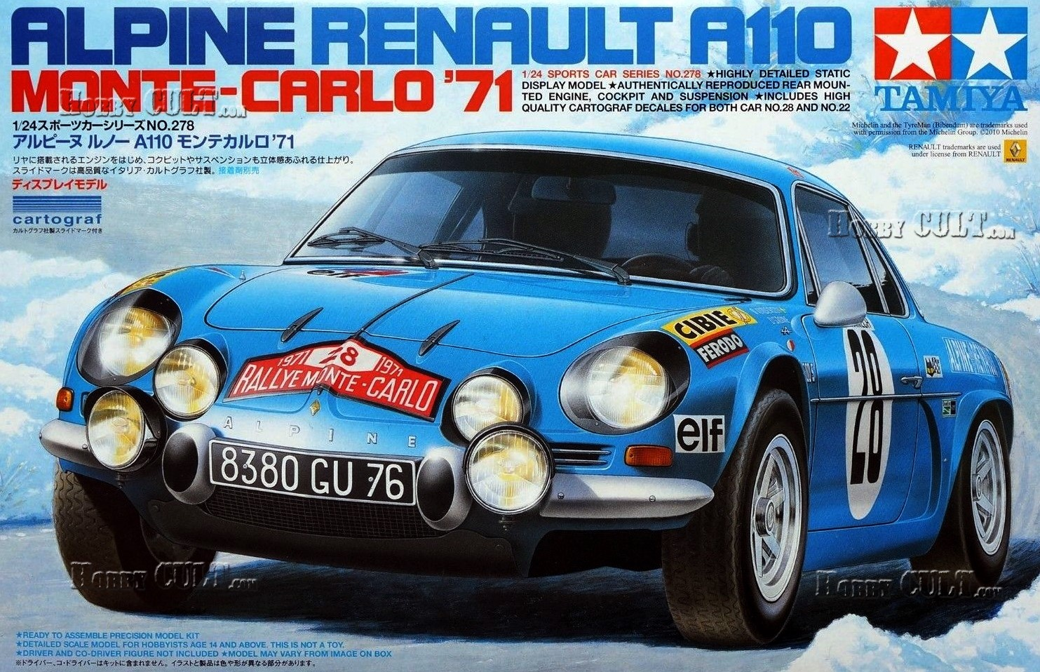 1:24 Renault Alpine A110 1600, Monte Carlo Rally 1971
