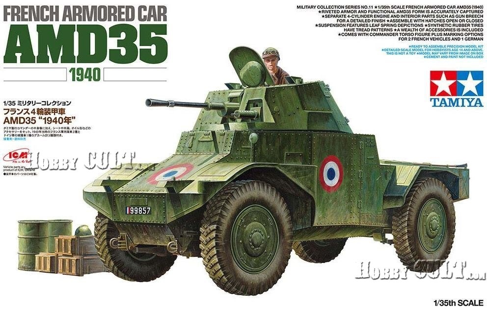 1:35 French Armored Car AMD Panhard 35 (1940) (Pre-Order)