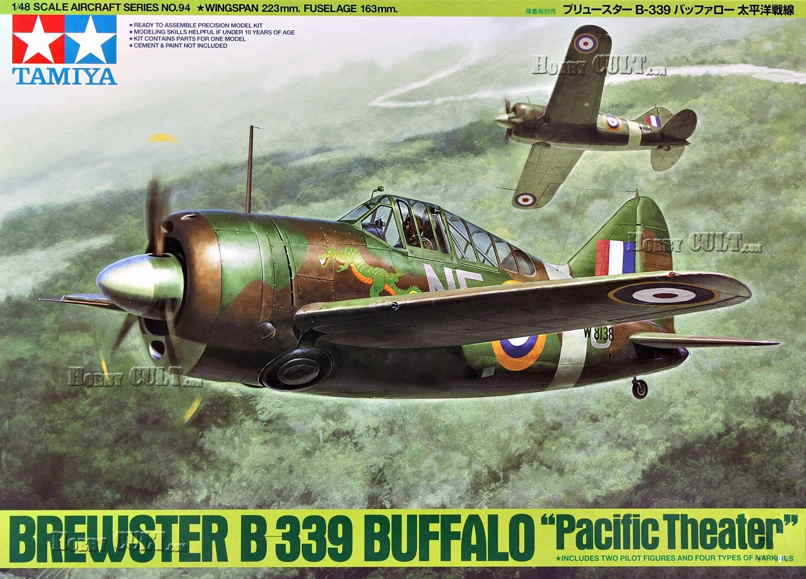 1:48 Brewster B-339 Buffalo 'Pacific Theater' w/Crew (2 Figures)