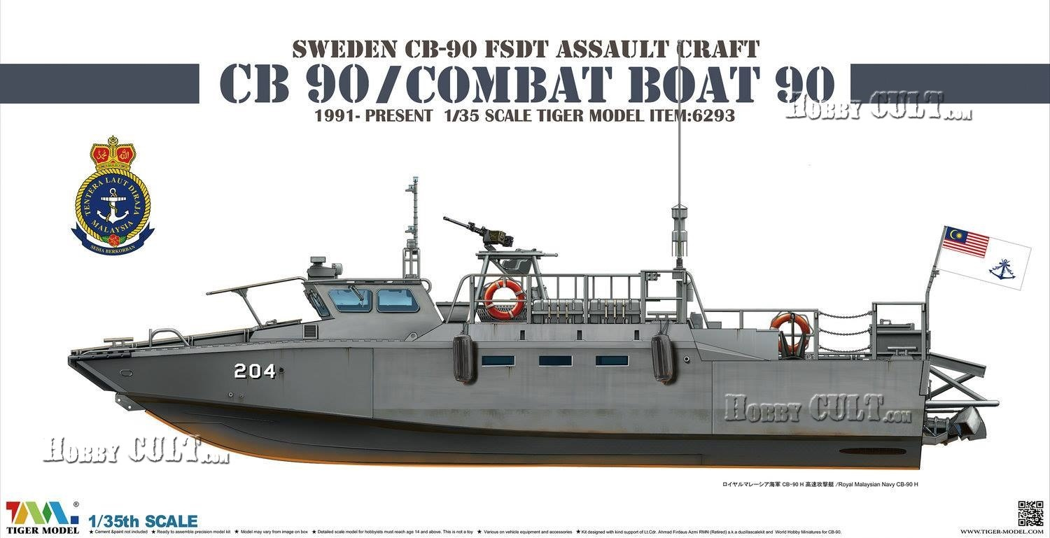 1:35 Sweden CB-90 Class Fast Assault Craft (Pre-Order)