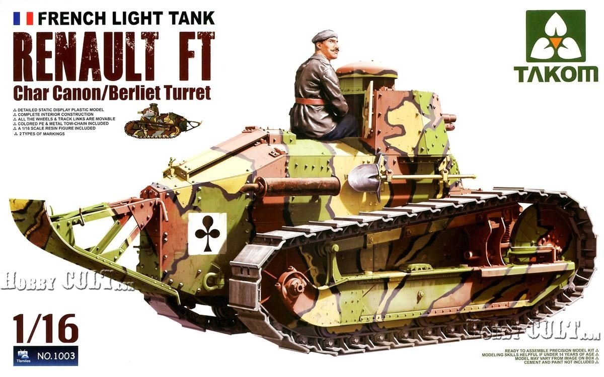 1:16 French Light Tank Renault FT w/Berliet Turret (PreOrder)