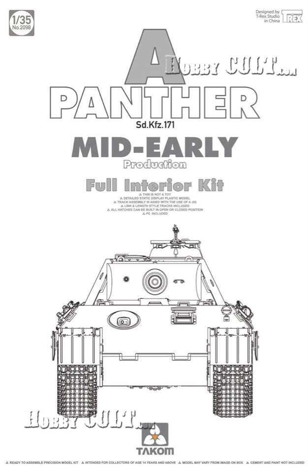 1:35 Panther Ausf.A (Mid-Early) w/Full Interior (Pre-Order)
